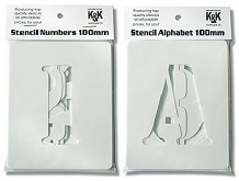 Number and Alphabet stencils